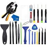 MMOBIEL 23 en 1 Pince à Ouverture Professionnelle Tournevis Kit de Réparation Spudger Compatible pour Smartphones Tablettes