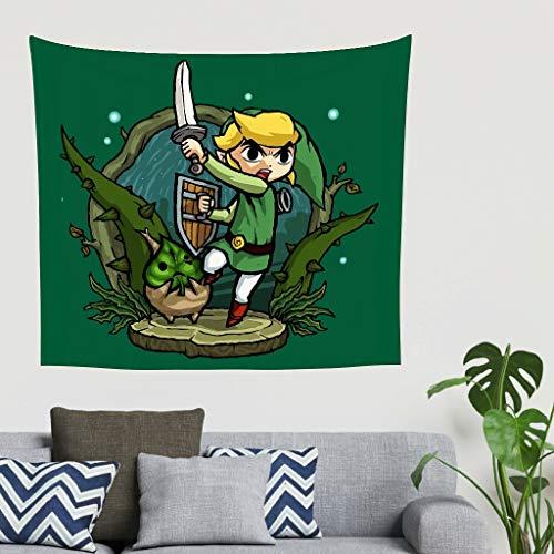 O5KFD&8 Green-Zelda Musterdruck Wandteppich Bohemian Klein Picknickmatte - Arms für Wohnzimmerdekorationen White 40 * 59