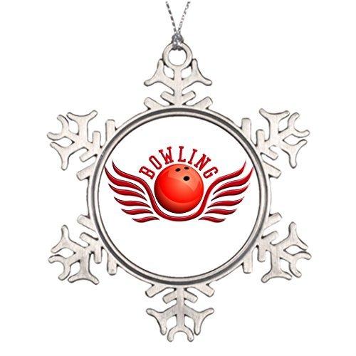 Yilooom Große Weihnachtsbaum-Schneeflocken-Ornamente Bowling-Flügel, Weihnachtsdekoration, Ideen sparen