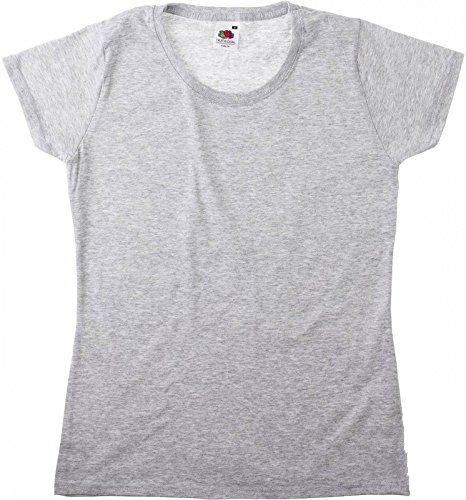 New Lady-Fit Valueweight T Heather Grey