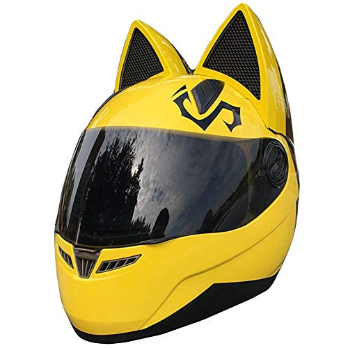 SK-LBB Creativo personalità gatto orecchio casco moto moda uomini e donne locomotiva elettrica ATV Kart Roller Balance Auto Casco integrale certificato DOT