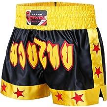 Pantalones cortos Farabi Sports para MMA, boxeo, muay thai, lucha, entrenamiento, gimnasio, kick boxing, color negro, rojo y azul, para hombre, para artes marciales