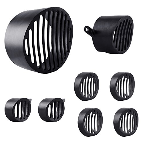 autofy metal grill for royal enfield bullet classic 350 & 500 with cap (black, set of 8) Autofy Metal Grill for Royal Enfield Bullet Classic 350 & 500 with Cap (Black, Set of 8) 513bDZJCdiL