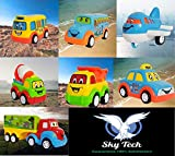 Sky Tech®Exclusive, Non Toxic Unbreakable Automobile Car Toy Set , Pull Back Car