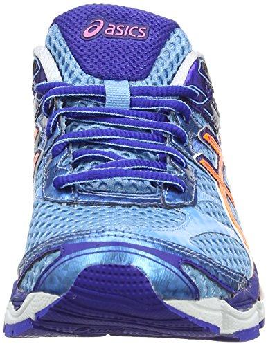 AISCS Gel-Cumulus 16, Chaussures de running Femme Bleu (Soft Blue/Nectarine/Deep Blue 4109)