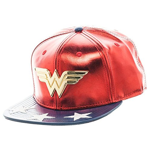DC sb3bc0dco Comics Wonder Woman Logo Suit Snapback Cap (One Size)