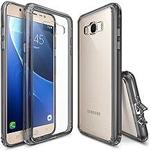 Funda Galaxy J7 2016, Ringke [FUSION] Crystal Clear Volver PC TPU de parachoques [Protección de Caídas / golpes tecnología de la absorción] [Se adjunta del casquillo del polvo] para Samsung Galaxy J7 2016 - Smoke Black