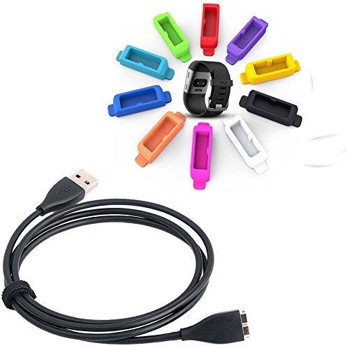 KIMILAR Sostituzione cavo di ricarica USB per Fitbit Surge Band attività Wireless Bracciale carica