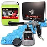 ABACUS TORNADOR Black Z-020RS (Modell 2019) -Textil- & Polsterreinigungs-Set mit 5 Liter Kanister POTETO & Mikrofasertüchern