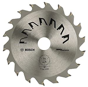 Bosch 2609256853 Precision Circular Saw Blade with 36 Teeth / Carbide / Clean Cut / 150 mm Diameter Bore with 20 / 16 mm Reduction Ring / 2.5 mm Cutting Width