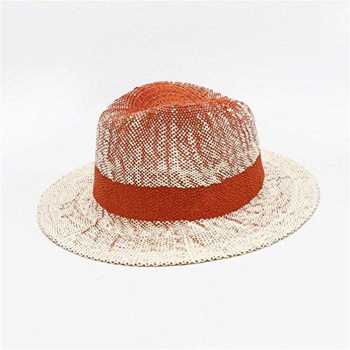 TOP XXX Sonnenschutz Strohhut Frühling Und Sommer Neue Stil Sonnenhut Stroh Hut Mode Hut,Orange
