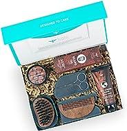 Bombay Shaving Company Father's Day Gift Kit   6-in-1 Advanced Beard Maintenance Kit   Face and Beard wash