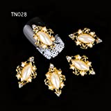 Best GENERIC Jewelry Supplies - Generic 10pcs 3D nail art decorations alloy rhinestone Review