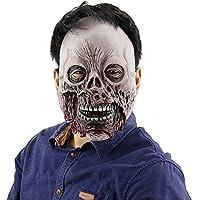 HZJA Scary Halloween Máscara De Cabeza De Cráneo, Látex Adulto Terror Ghost Divertido Bar Prom Zombie Up Performance Props Mask