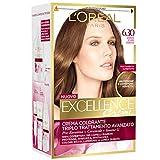 L'Oréal Paris Excellence Creme, Tinta Colorante con Triplo Trattamento Avanzato, Copre i Capelli Bianchi, 6.3 Biondo Scuro Dorato
