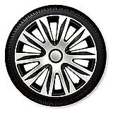 Sparset CDND0030 14 Zoll 15 Zoll 16 Zoll Radzierblenden / Radkappen Silber schwarz 14 ' Zoll 15' Zoll 16' Zoll 4 Stück = 1 Satz und Reifentaschenset Premium