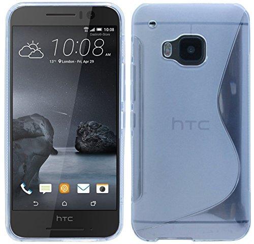 HTC ONE S9 // S-Line TPU SchutzHülle Silikon Hülle Silikonschale Case Cover Bumper in Transparent @ Energmix