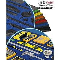 Funda de espuma de color azul, organizador de herramientas para carreras, para caja de herramientas, azul