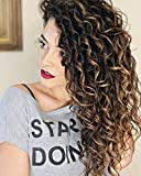 Moresoo Remy Clip in Extensions Echthaar Natural Wave Hair Extensions Brown #4 Highlighted with Caramel Blonde #27 Full Head Human Hair Extensions 14 Zoll 7 pcs 120g