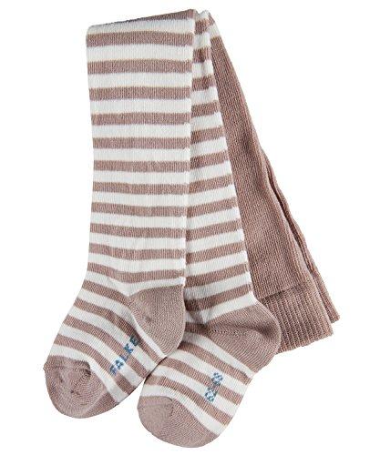 FALKE Unisex Baby Strumpfhose Stripe, Grau (Taupe 5461), 80 (Herstellergröße: 80-92)