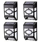 JLTPH 4er-Pack Wandhalterung Solar LED Lampe Licht / Solar Powered Garten Zaun / Home Landschaft Zaun Lampe (warmweiß)