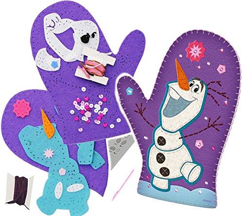 alles-meine.de GmbH Bastelset - Filz -  Disney die Eiskönigin - Frozen / Olaf  - zum Sticken, einfaches Nähen per Hand - Komplettset filzen Eulen - Creativ - Filzset zum Bastel..