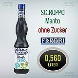 Sciroppo Sirup [Fabbri] Menta Minz (ohne Zucker) -Minzsirup- (0,560 Lt)