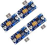 D-PLANET [4-PACK] 5A DC-DC Adjustable Buck Converter 4~38v to 1.25-36v Step Down Power Supply High Efficiency