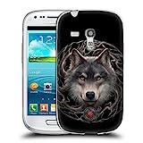 Head Case Designs Offizielle Anne Stokes Nacht Wald Wölfe 2 Soft Gel Hülle für Samsung Galaxy S3 III Mini