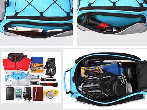 DCCN Fahrrad Rahmentasche Oberrohrtasche Fahrrad Satteltasche Lenker-Tasche fuer Mountainbike 13L Schwarz