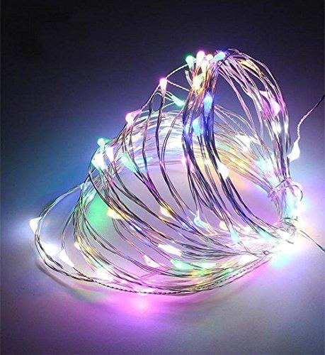 Flicker Flame-dekor (✽ZEZKT-Home✽ Lichterkette Weihnachten, 10M 100leds Kupferdraht Lichterkette bunt Garten Außen Warmweiß Weihnachten Deko Wasserdichte Aussen Sternen Lichterkette Mehrfarbig (Mehrfarbig))
