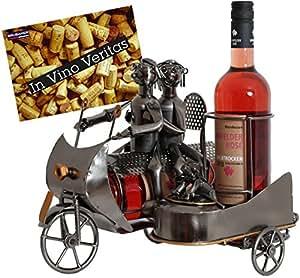 brubaker porte bouteille de vin d coratif sculpture en m tal id e cadeau couple sur la. Black Bedroom Furniture Sets. Home Design Ideas
