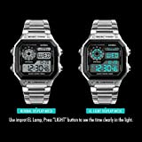 Men's Multi-function Watch Countdown Alarm Stainless Steel Band Quartz Chronograph Sport Casual Multiple