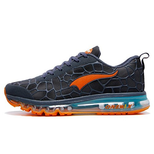 Onemix Air Uomo Scarpe da Ginnastica Corsa Sportive Running Sneakers Fitness Interior Casual all'Aperto Lago blu / arancio dimensione 41 EU
