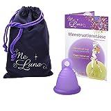MeLuna Classic Copa Menstrual, Anillo, Violeta, Talla Shorty M - 1 Unidad