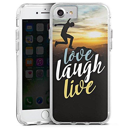Apple iPhone X Bumper Hülle Bumper Case Glitzer Hülle Liebe Love Amour Bumper Case transparent