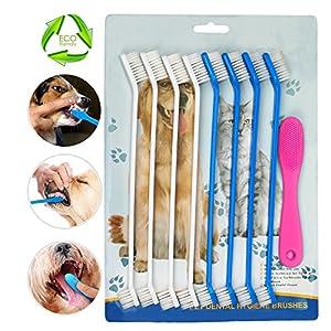 Chien Brosse à dents, brosses à dents doigt en silicone, pour animal domestique d'hygiène dentaire d'hygiène bucco-dentaire brosses, Lot de 6