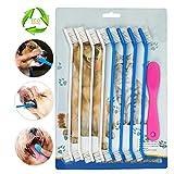 Huihaitong Zahnbürste für Hunde, für die Zahnpflege für Ihr Haustier, Finger-Zahnbürste aus Silikon, für mehr Hygiene, 9 Stück