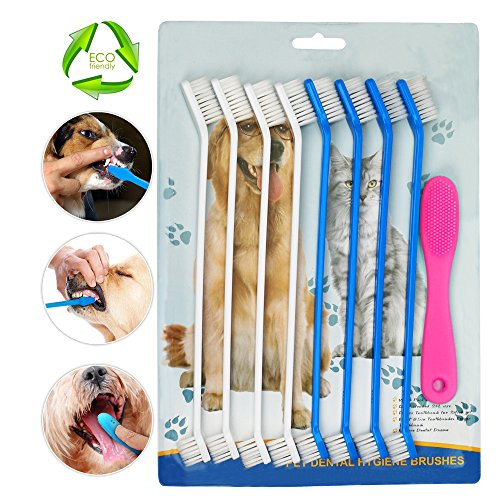 HUIHAITONG Pet Dog Toothbrush,Silicone Finger Toothbrushes,Pet oral Care Dental Hygiene Brushes, 6pcs
