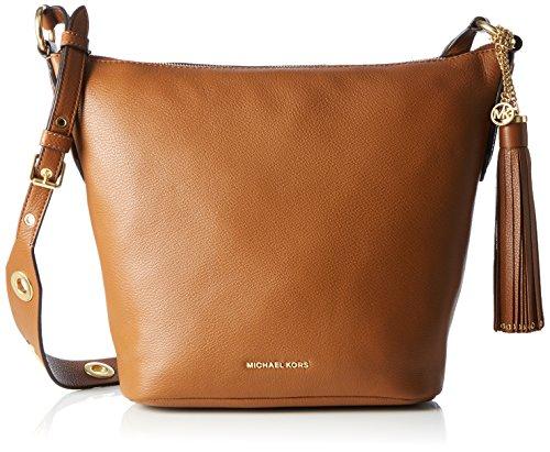 Michael Kors  Brooklyn Md Feed, sac bandoulière femme - marron - Braun (Luggage), 12x27x24 cm (B x H x T)