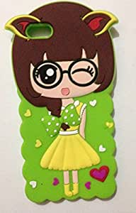 Apple iphone 5/5s/5g back cover 3D Cute girl green