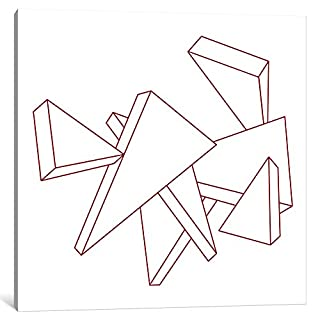 iCanvasART 1-Piece Modern Art-Stencil Triangles Canvas Print, 26