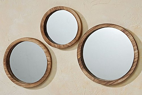 The Rustic Boho Chic Porthole Mirror Trio, Set of 3 - 10, 12 and 13 ¾
