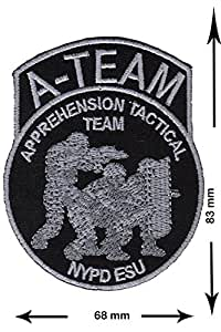 Police A-Team Apprehension Tactical Team NYPD ESU USA Police Police and Law Patch POLICE OFFICER Vest Logo Jacket T shirt Patch Sew Iron on Embroidered Badge Sign Costum