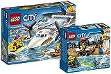 LEGO City 60164 - Rettungsflugzeug + LEGO City 60163 - Küstenwache-Starter-Set