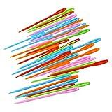 ultnice 40Stück große Eye Kunststoff Näh Nadeln Weben Tools für Kinder verschiedene Farben