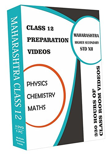 AVNS INDIA Maharashtra Higher Secondary Class 12 Combo Pack - Physics, Chemistry and Maths Full Syllabus Teaching Video (DVD)