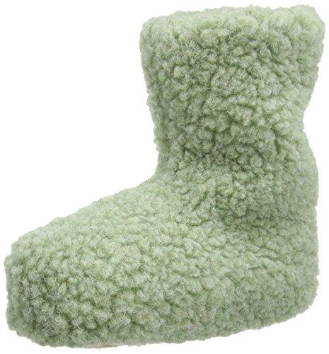 Woolsies Yeti Natural Wool, Chaussons mixte adulte Vert - Vert