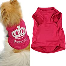 Ropa para Perros,Xinan Mascotas Princesa Camiseta Chaleco Trajes de Puggy (XS)