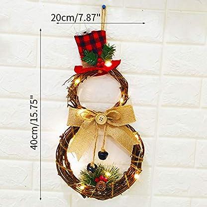 Freahap Guirnalda Corona Navideñas Corona De Navidad De Ratán Decoración de Navidad Colgante para Puerta Árbol de Navidad Colgante Adornos de Pared